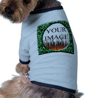 Green Marble Square Frame with fire Template Dog Tshirt