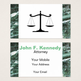 Green Marble Stone Texture attorney Business Card