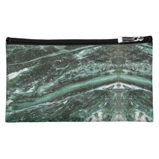 Green Marble Stone Texture Emerald  Cosmetic Bag