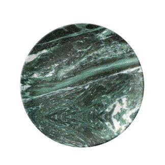 Green Marble Stone Texture Emerald Porcelain Plate