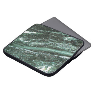 Green Marble Stone Texture Neoprene Laptop Sleeve
