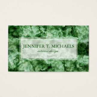 Green Marble Texture Business Card
