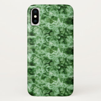 Green Marble Texture iPhone X Case