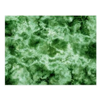 Green Marble Texture Postcard