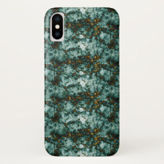 Green Marble Texture With Veins iPhone X Case