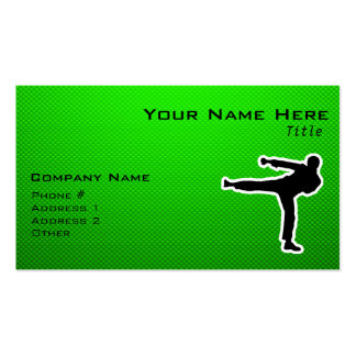 Green Martial Arts Pack Of Standard Business Cards