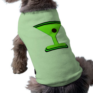GREEN MARTINI GRAPHIC PRINT DOG T SHIRT