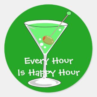 Green Martini Sticker