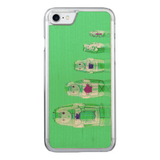 Green Matryoshka Russian Dolls iPhone 6 Slim Carved iPhone 7 Case