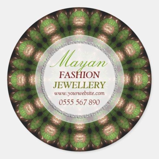 Green Mayan Fashion Jewellery Product Sticker