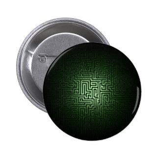 Green Maze Pinback Buttons