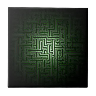 Green Maze Ceramic Tile
