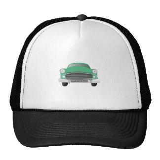 Green Mean Retro Car Boy s Birthday Mesh Hats