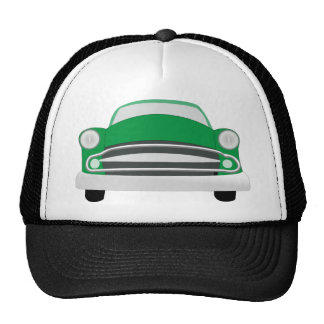 Green Mean Retro Car Boy's Birthday Cap