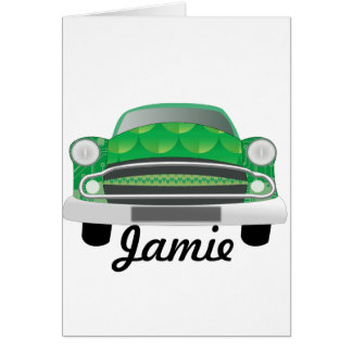 Green Mean Retro Car Boy's Birthday Card