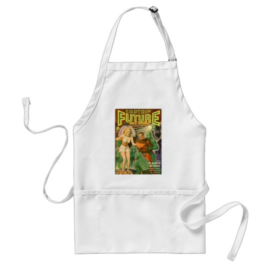 Green Meanies. Standard Apron