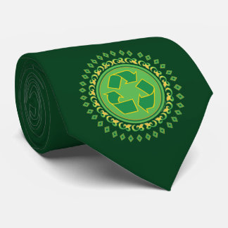 Green Medallion Recycling Sign Tie