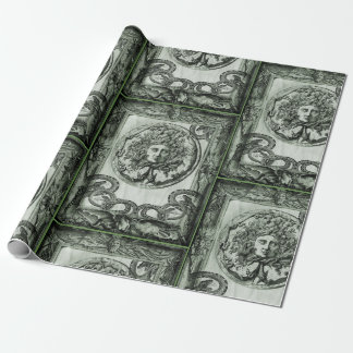 Green Medusa Gift Wrapping Paper