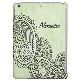 Green Mehndi Motif Savvy iPad Air Case