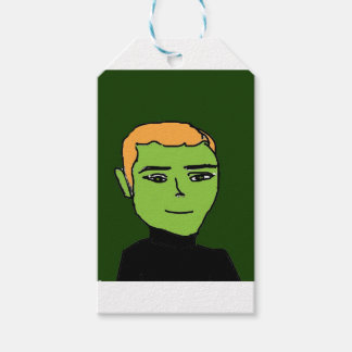 green men gift tags