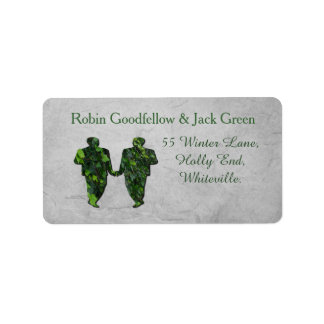 Green Men Ivy & Silver Gay Handfasting Labels