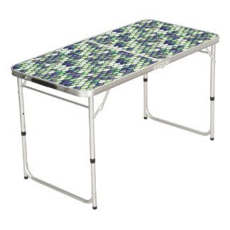 green mermaid skin pattern beer pong table