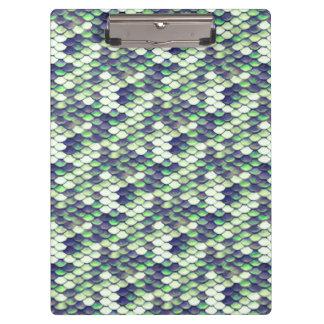green mermaid skin pattern clipboard