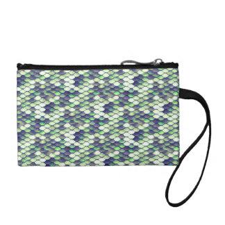 green mermaid skin pattern coin purse