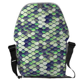 green mermaid skin pattern commuter bag