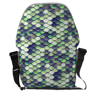 green mermaid skin pattern courier bags