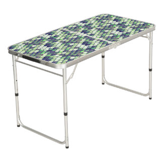 green mermaid skin pattern pong table