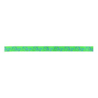 green mermaids satin ribbon