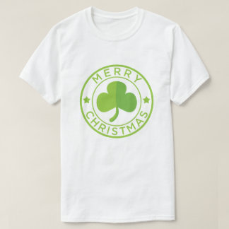 Green Merry Christmas Badge T-Shirt