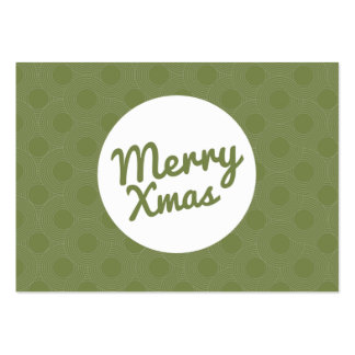 Green Merry Xmas Gift Certificate Cards Pack Of Chubby Business Cards