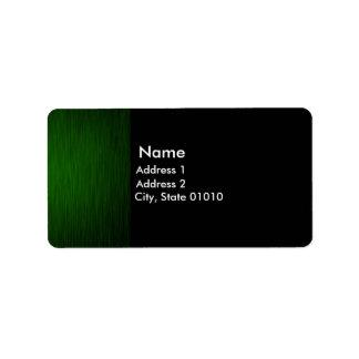 Green Metal Address Label