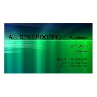 Green Metallic Business Card Template