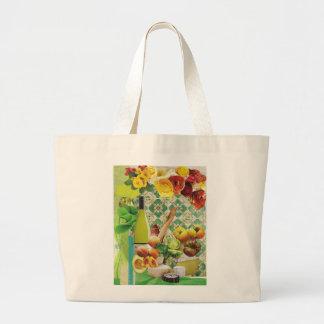 Green Mexican Tile Jumbo Tote Bag