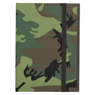 Green Military Camouflage Pattern iPad Air Case