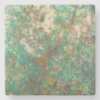 Green Mineral Stone Image Stone Coaster