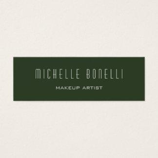 Green Minimaist Modern Slim Size Trendy Mini Mini Business Card