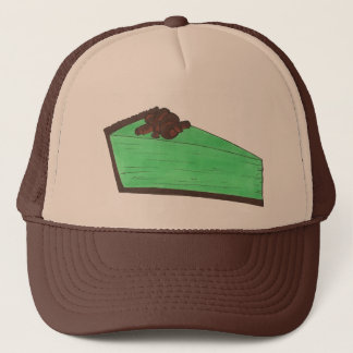 Green Minty Grasshopper Pie Slice St Patrick's Hat