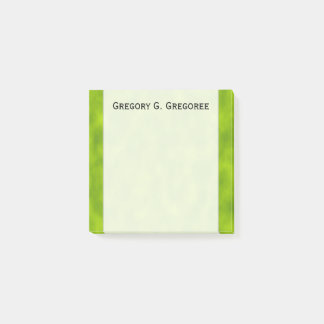 Green Mist/Haze/Fog-Like Pattern + Custom Name Post-it Notes
