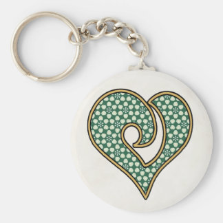 Green Mix & Match Collectables - 8 Basic Round Button Key Ring