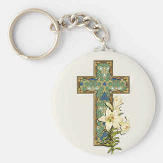 Green Mix & Match Collectables - 9 Basic Round Button Key Ring