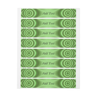 Green modern abstract pattern wraparound address label
