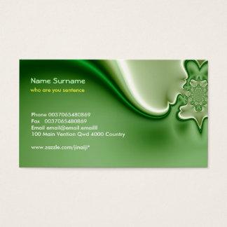 green modern abstraction business card design