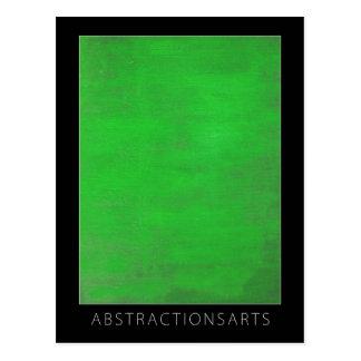 Green Modern Art Postcard