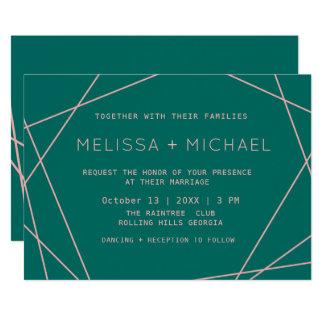 Green Modern Minimalist Wedding Card