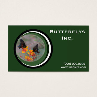 Green Monarch Butterfly Business Card