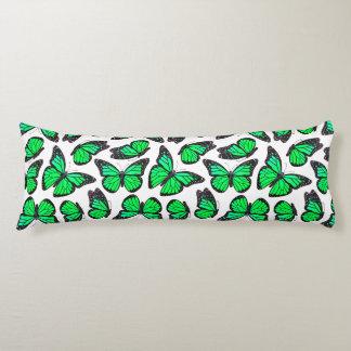 Green Monarch Butterfly Pattern Body Cushion